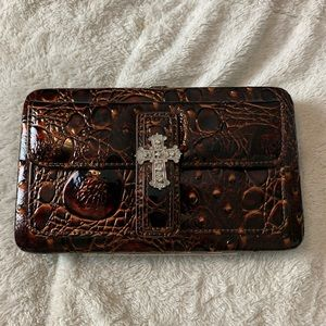 NWT Flat Wallet Clutch Criss Bling